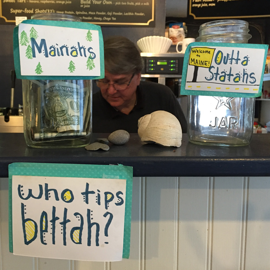 The Main tip jar