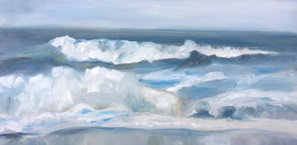 """Rodeo Surf, 12"""" x 24"""", oil on board"""